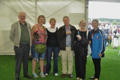 Bill, June, Mary and Brigid with William Xaviour and Heather at the World Pipe Band Championships in Stormont Castle grounds